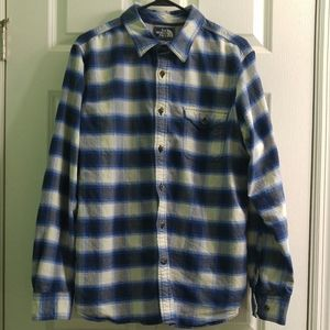 The North Face Men's Plaid Flannel, Large Like New